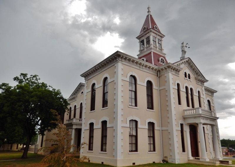 Wilson County Courthouse, Floresville, TX (Designed by Alfred Giles, 1884) image. Click for full size.