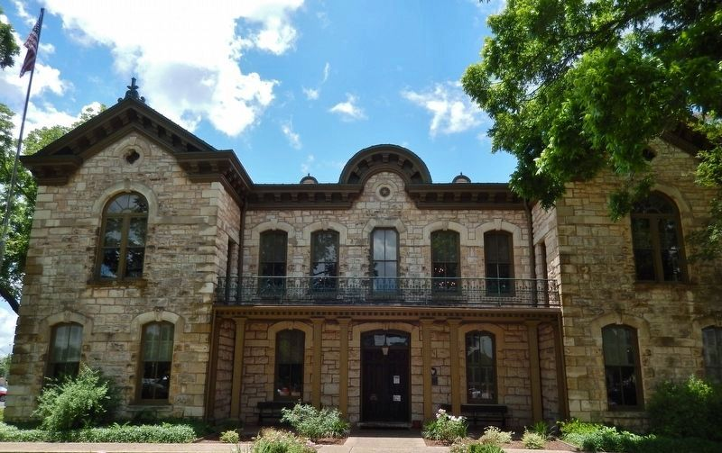Gillespie County Courthouse, Fredericksburg, TX (Designed by Alfred Giles, 1881) image. Click for full size.