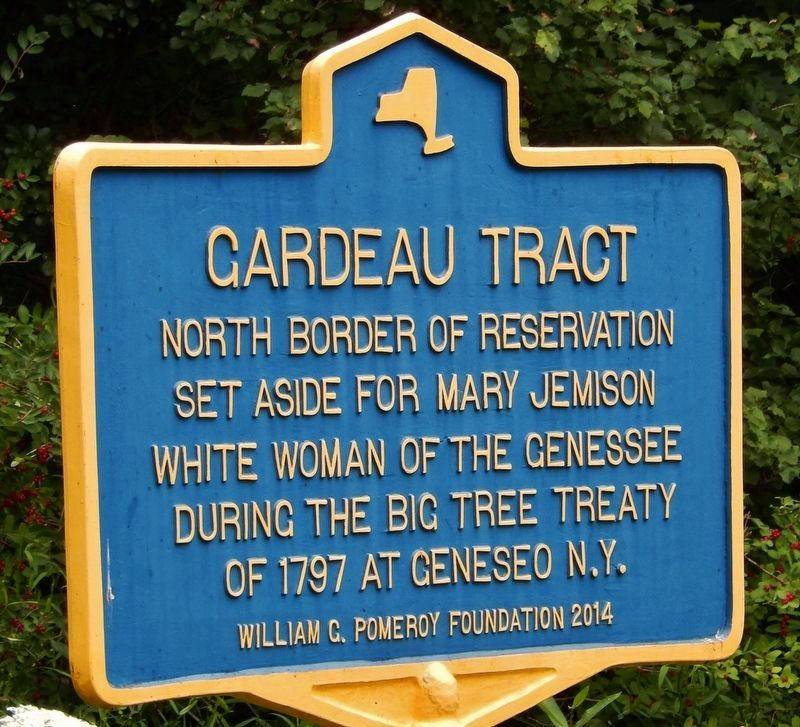 Gardeau Tract (North Border) Marker image. Click for full size.