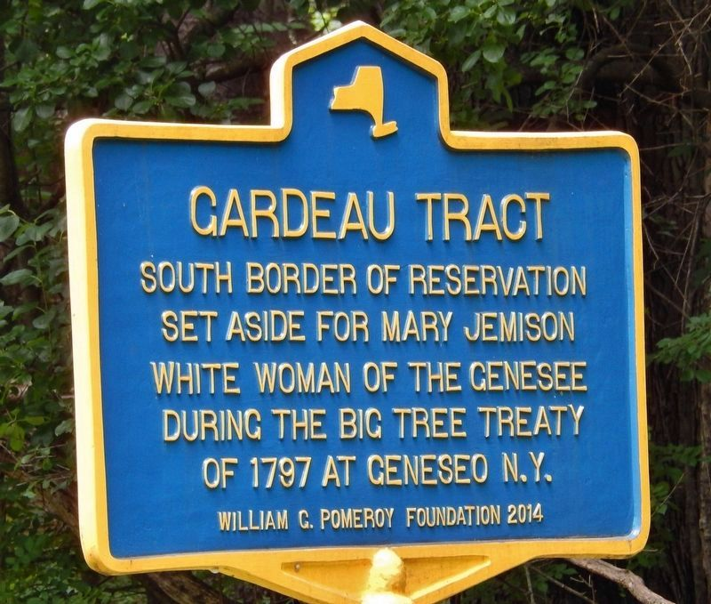 Gardeau Tract (South Border) Marker image. Click for full size.