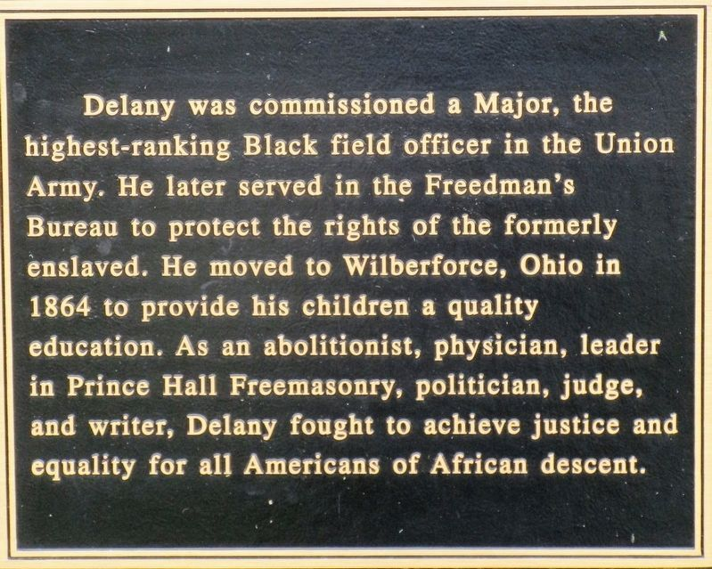 Martin Robison Delany Marker image. Click for full size.