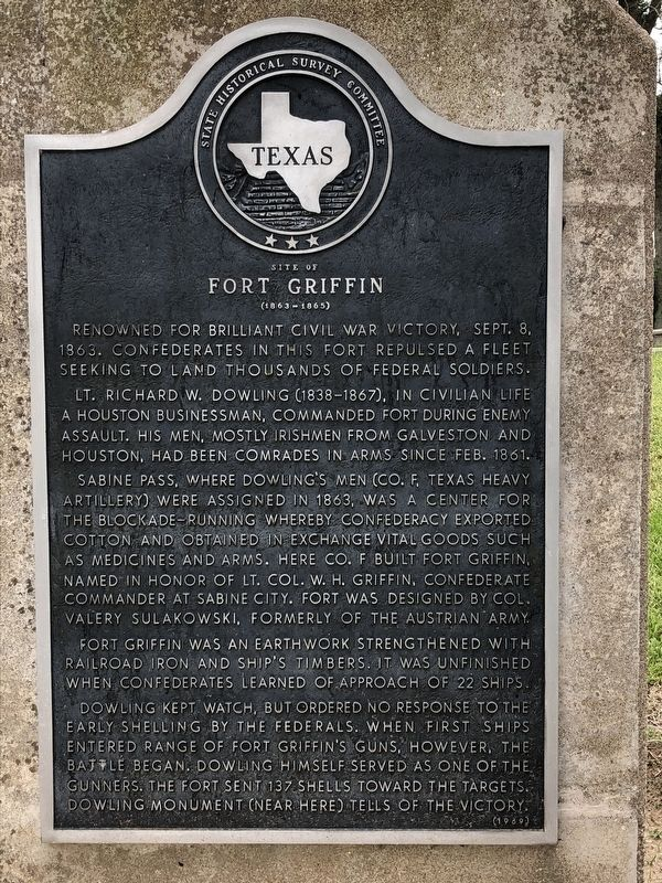 Site of Fort Griffin Marker image. Click for full size.