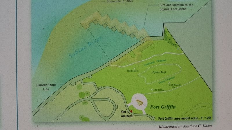 Interpretive Panel for the Fort Griffin Scale Model image. Click for full size.