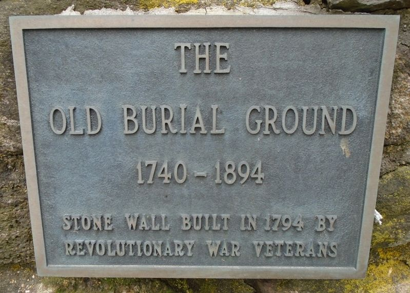 The Old Burial Ground Marker image. Click for full size.