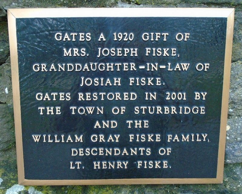 The Old Burial Ground Gates Marker image. Click for full size.