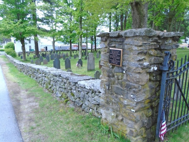 The Old Burial Ground Wall image. Click for full size.