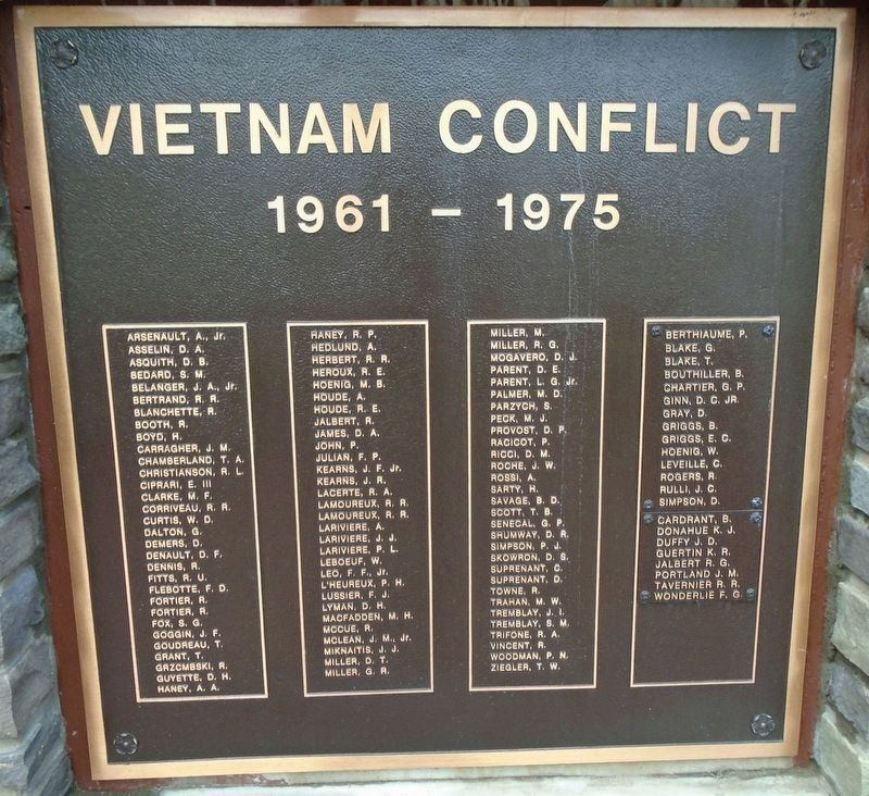 Sturbridge Honor Roll - Vietnam Conflict image. Click for full size.