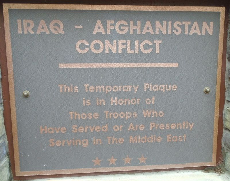 Sturbridge Honor Roll - Iraq and Afghanistan image. Click for full size.