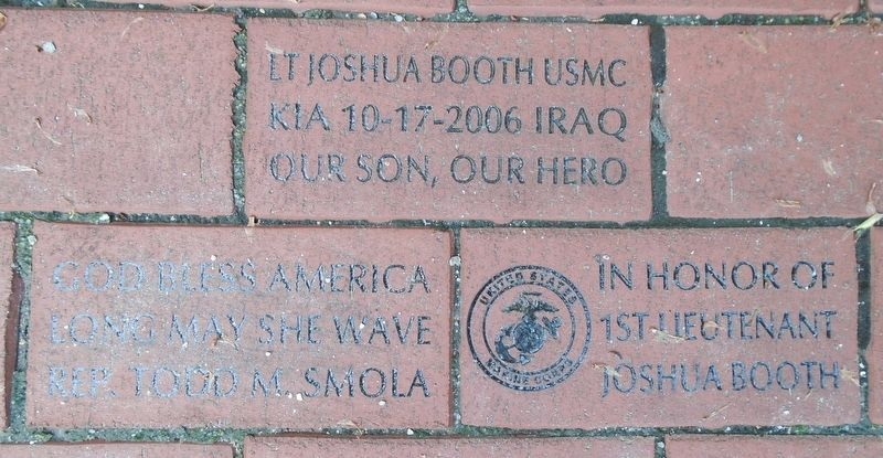 Sturbridge Honor Roll War Memorial Booth Memorial Pavers image. Click for full size.