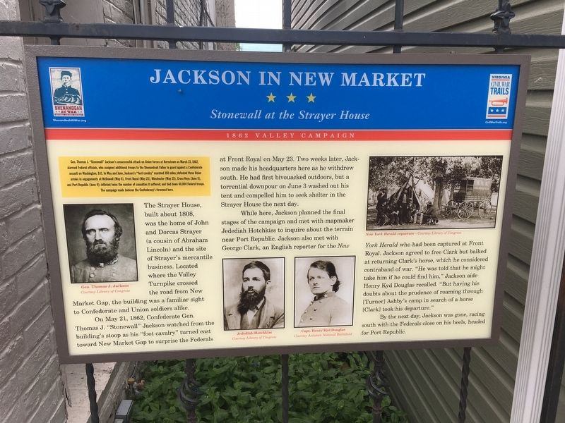 Jackson in New Market Marker image. Click for full size.