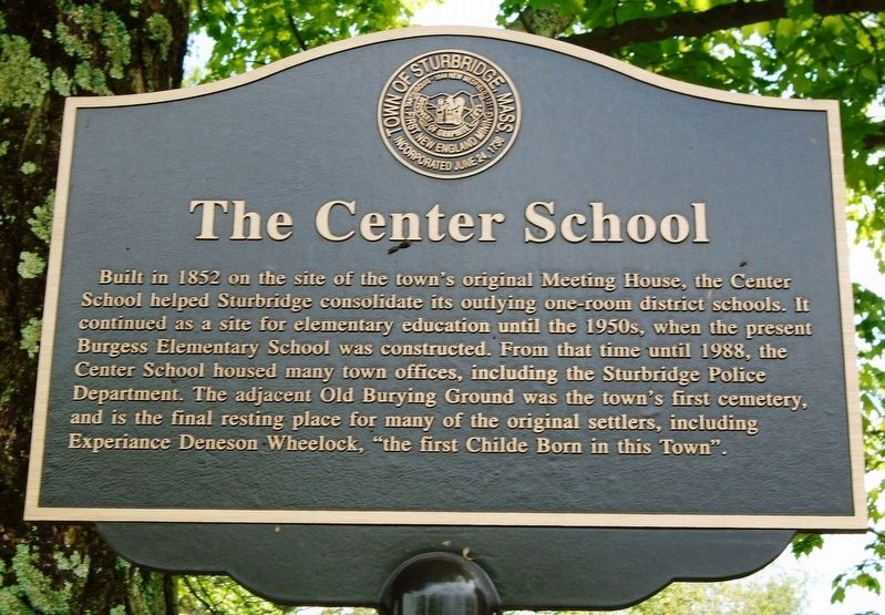 The Center School Marker image. Click for full size.