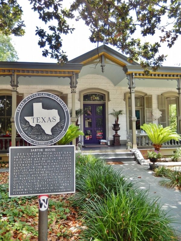 Sartor House Marker (<i>tall view</i>) image. Click for full size.