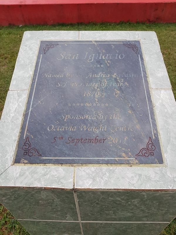 The Naming of San Ignacio Marker image. Click for full size.