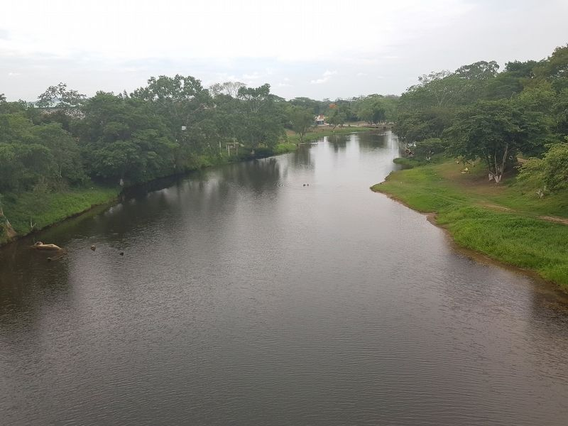 A view of the nearby Macal River from the Hawkesworth Bridge image. Click for full size.