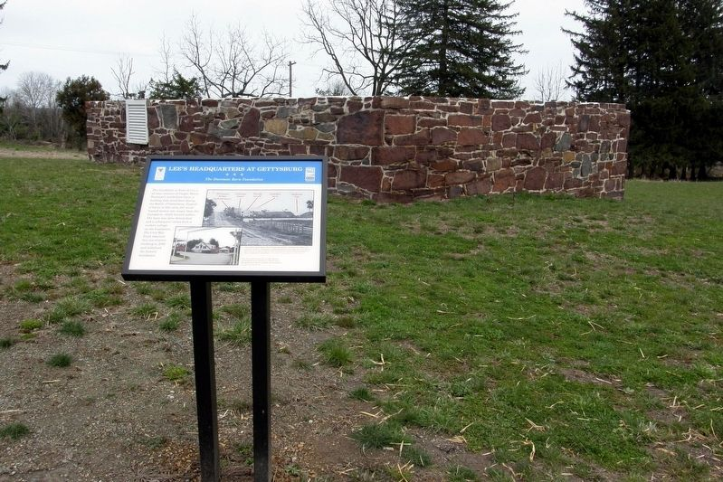 The marker and the Dustman Barn Foundation image. Click for full size.