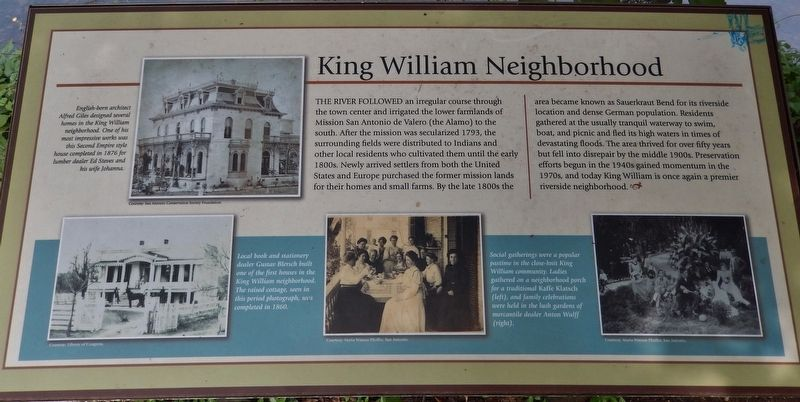 King William Neighborhood Marker image. Click for full size.