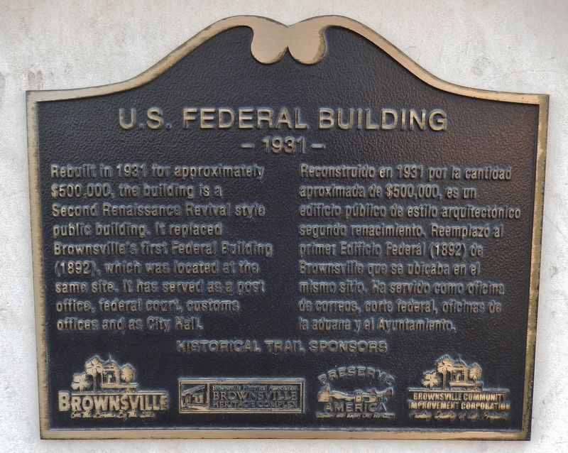 U.S. Federal Building Marker image. Click for full size.