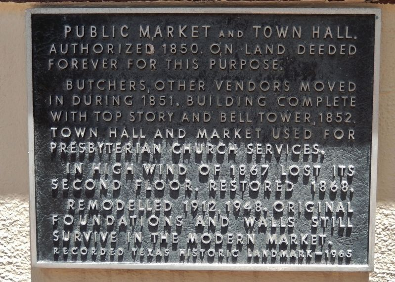 Public Market and Town Hall Marker image. Click for full size.