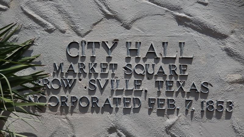 Close-up of Lettering on Town Hall Building - near door image. Click for full size.