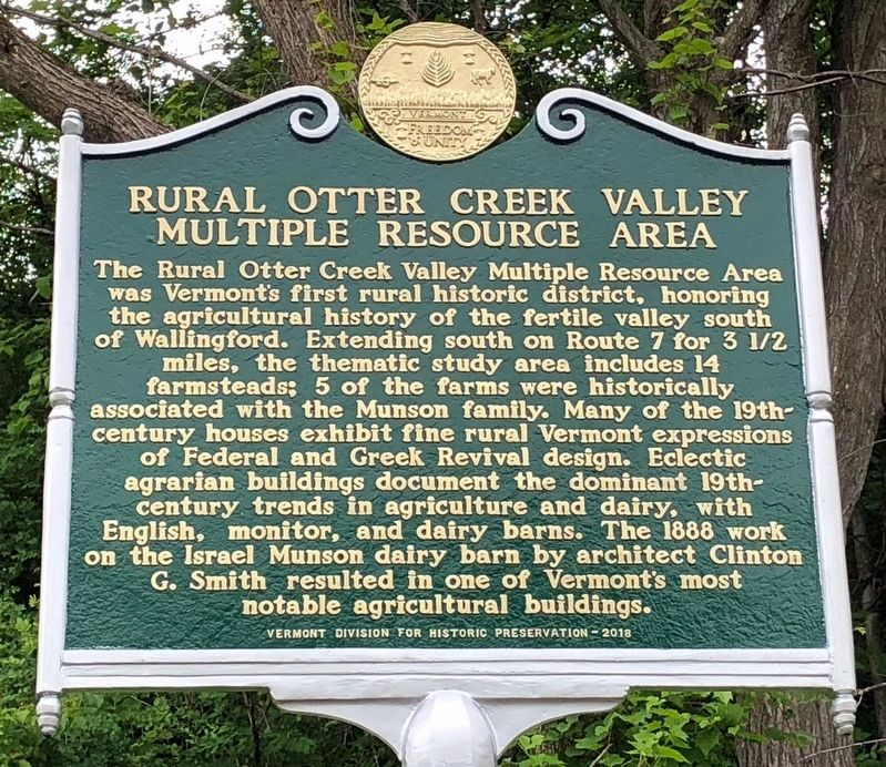 Rural Otter Creek Valley Multiple Resource Area Marker image. Click for full size.
