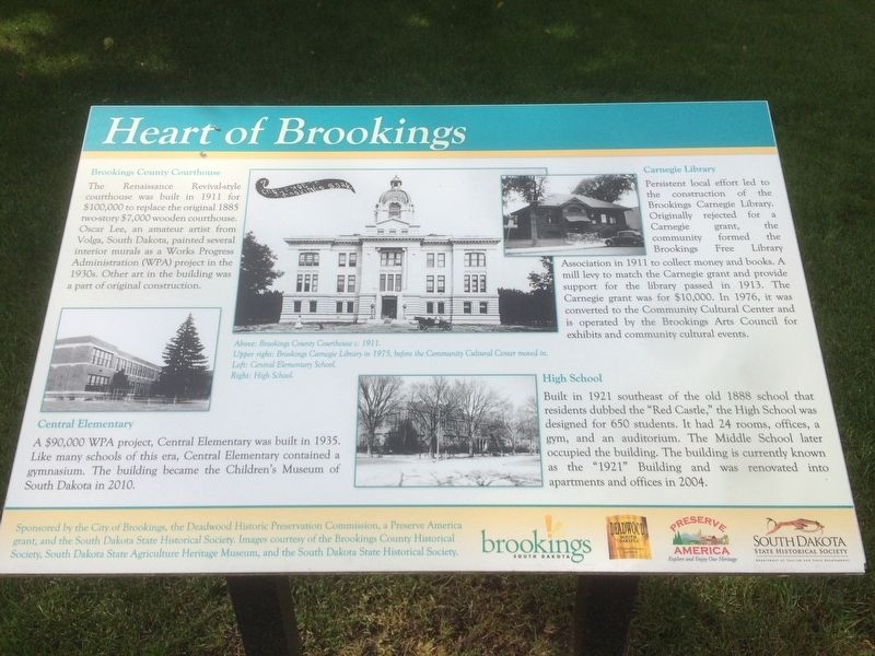 Heart of Brookings Marker image. Click for full size.