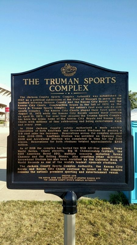 The Truman Sports Complex Marker image. Click for full size.
