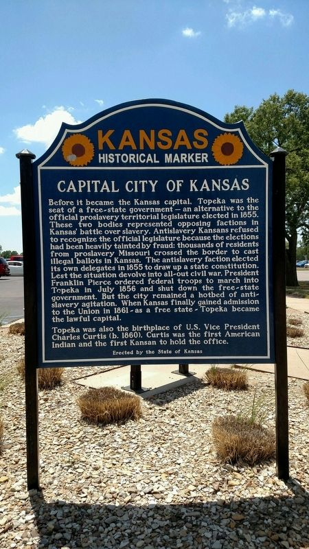 Capital City of Kansas Marker image. Click for full size.