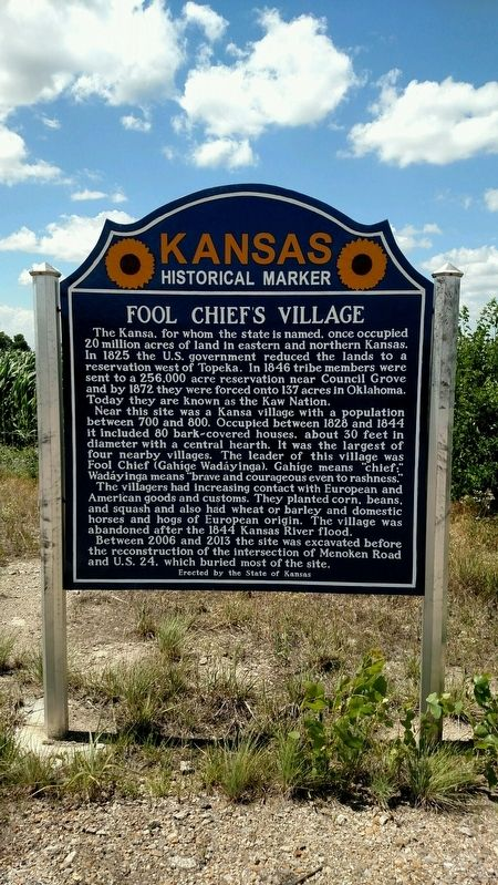 Fool Chief's Village Marker image. Click for full size.