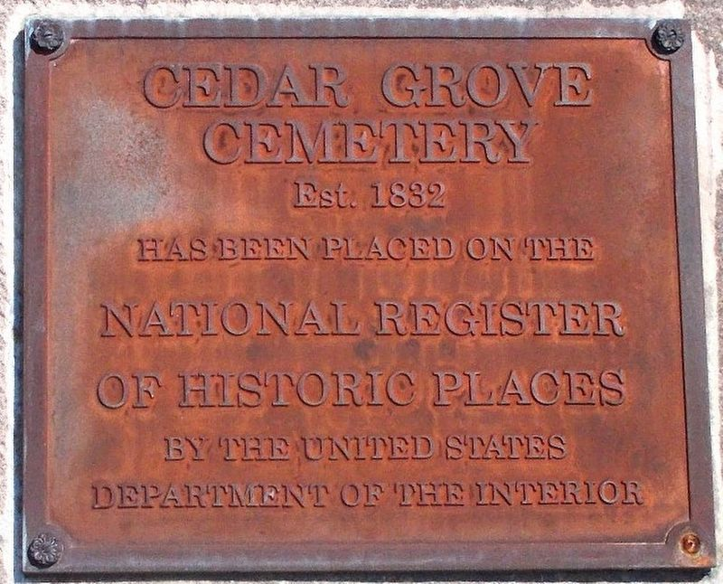 Detail of the National Register of Historic Places plaque. image. Click for full size.