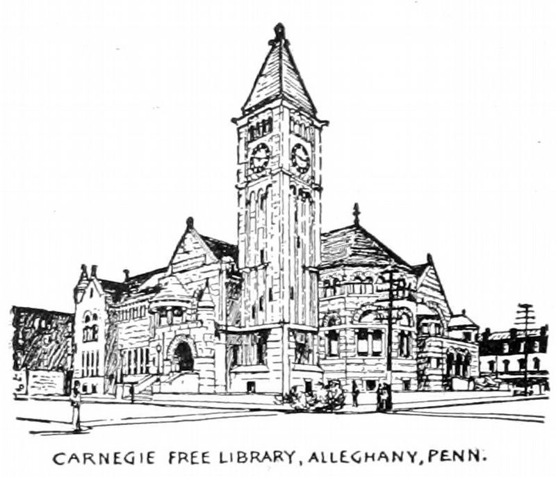 Carnegie Free Library,<br>Alleghany, Penn. image. Click for full size.