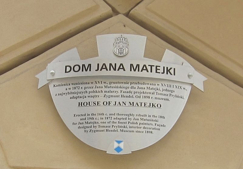 Dom Jana Matejki / House of Jan Matejko Marker image. Click for full size.