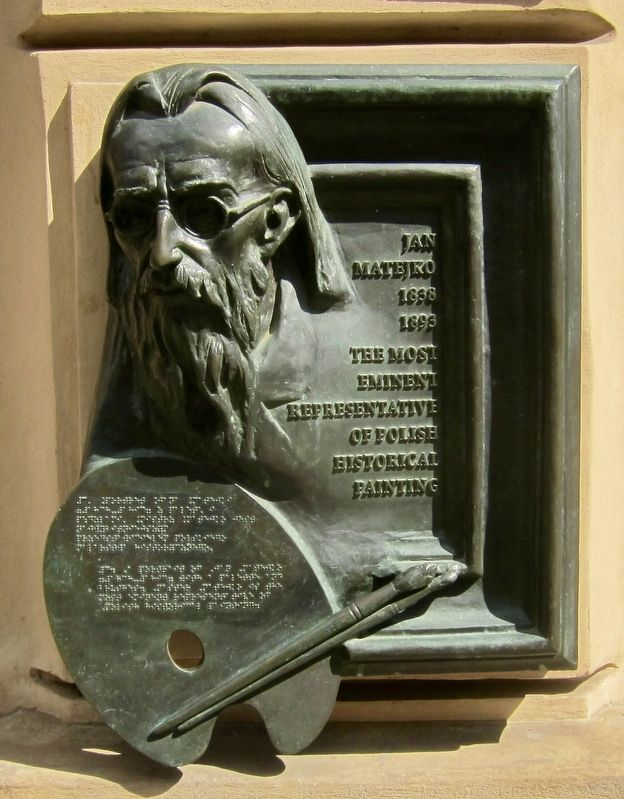 Jan Matejko Plaque image. Click for full size.