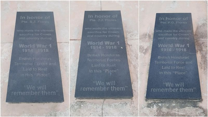 Graves at the British Honduras Territorial Force Memorial image. Click for full size.