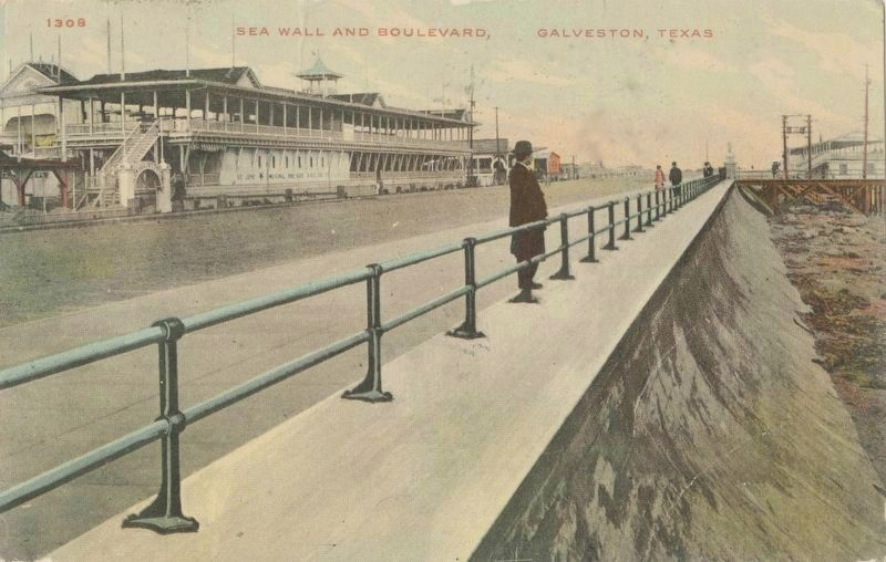 <i>Sea Wall and Boulevard, Galveston, Texas</i> image. Click for full size.