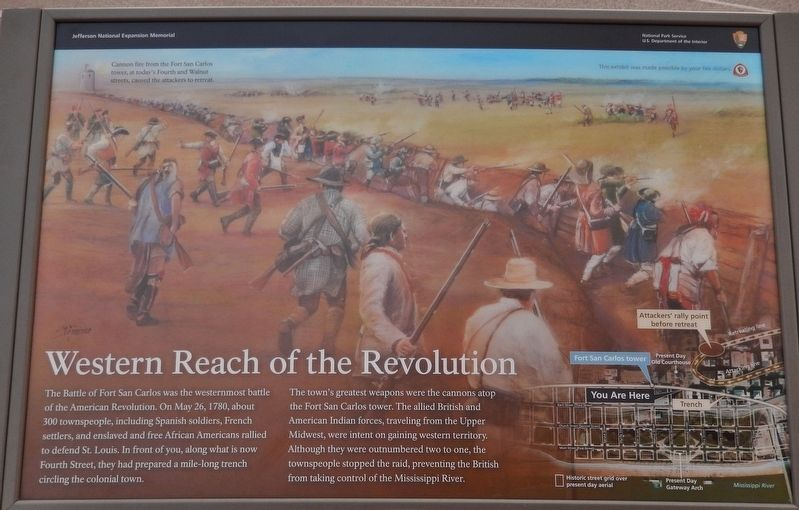 Western Reach of the Revolution Marker image. Click for full size.