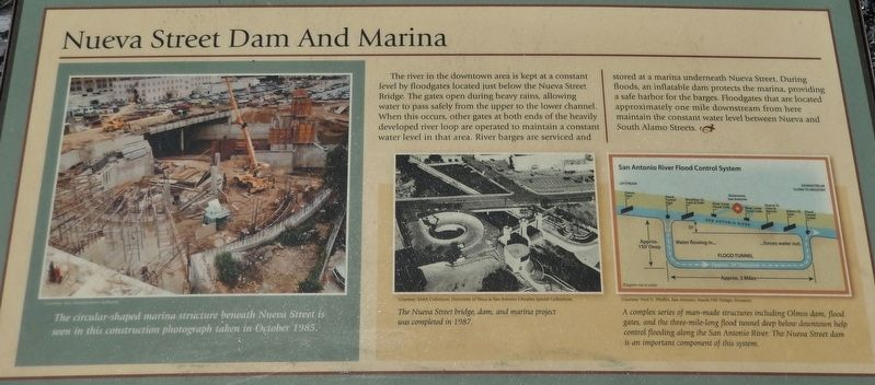 Nueva Street Dam and Marina Marker image. Click for full size.