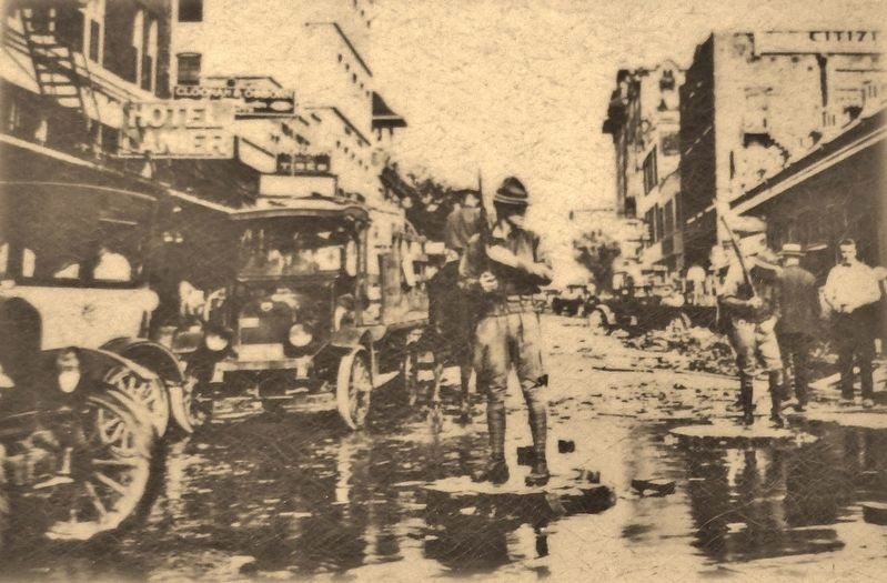 Marker detail: Flood of September 9-10, 1921 image. Click for full size.