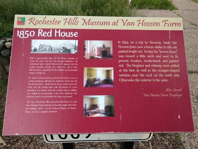 1850 Red House Marker image. Click for full size.
