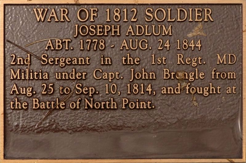 War of 1812 Soldier Marker image. Click for full size.