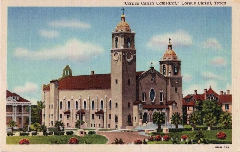"""Corpus Christi Cathedral,"" Corpus Christi, Texas image. Click for full size."