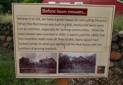 Before lawn mowers... Marker image. Click for full size.