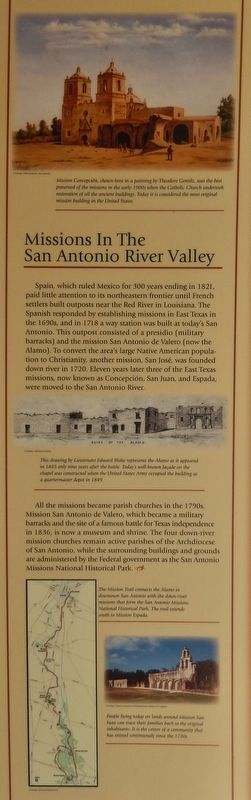 Missions in the San Antonio River Valley Marker image. Click for full size.