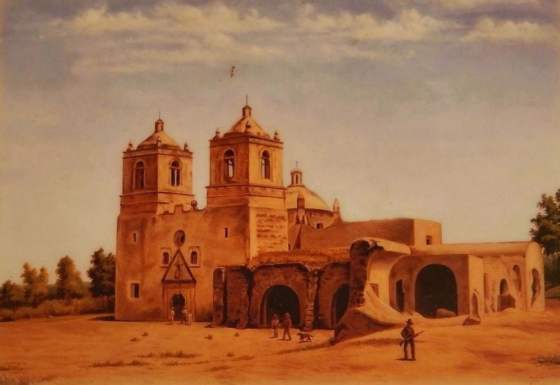 Marker detail: Mission Concepción image. Click for full size.