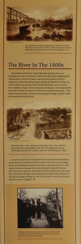 The River in the 1800's Marker image. Click for full size.