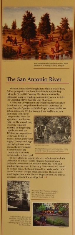 The San Antonio River Marker image. Click for full size.