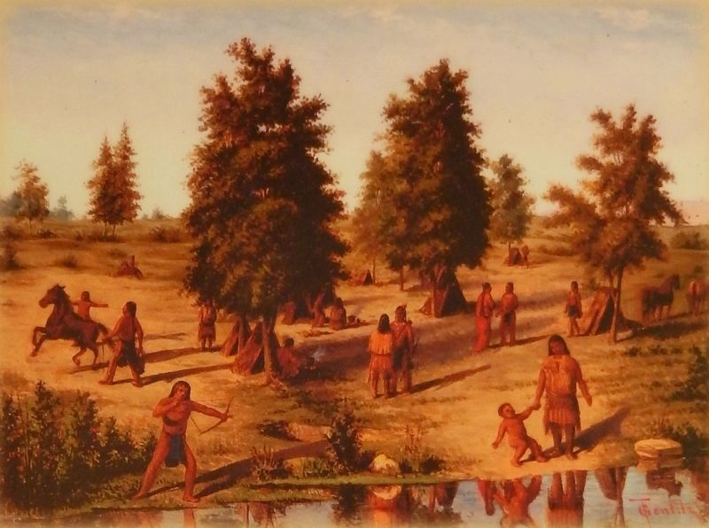 "Marker detail: ""Camp of the Lipan"" image. Click for full size."