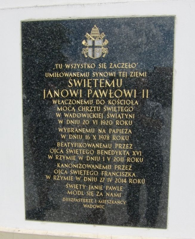 Święty Jan Paweł II / Pope John Paul II Marker image. Click for full size.