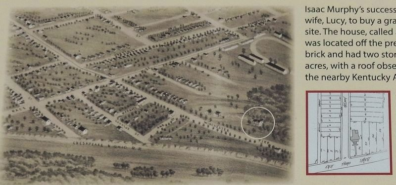 Marker detail: 1888 view of Lexington image. Click for full size.