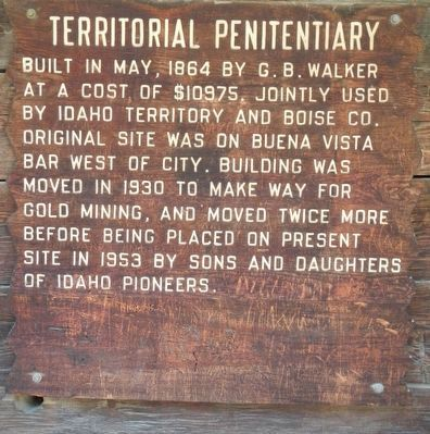 Idaho Territorial Penitentiary Marker image. Click for full size.