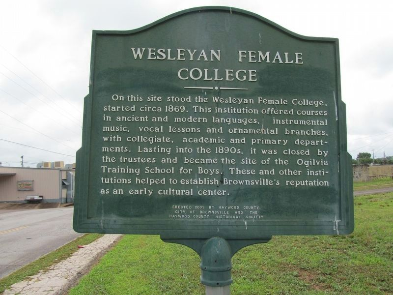 Wesleyan Female College Marker image. Click for full size.